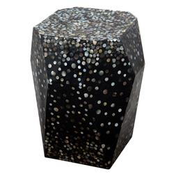 Twilite Oly Mother of Pearl Black End Table | Kathy Kuo Home