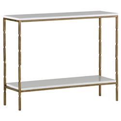 Tylor Regency Seagrass Brushed Brass Console Table | Kathy Kuo Home