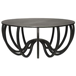 Tyrone Industrial Loft Steel Round Sculptural Coffee Table | Kathy Kuo Home