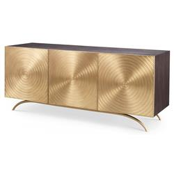 Val Modern Regency Gold Sideboard Cabinet | Kathy Kuo Home