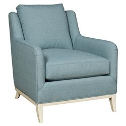 Vanguard Fisher Coastal Diamond Teal Milk Paint Armchair | Kathy Kuo Home