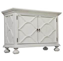 Vichy French Country White Weathered Wood Sideboard Buffet