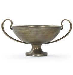 Viking Warrior Industrial Iron Celebration Trophy Decorative Bowl | Kathy Kuo Home