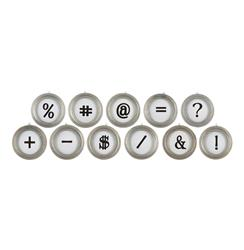 Vintage Typewriter Keys Metal Symbols Wall Decor