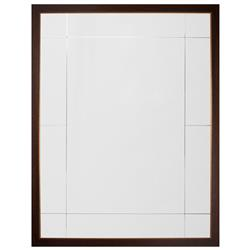 Viola Modern Classic Walnut Antique Gold Leaf Panel Mirror | Kathy Kuo Home