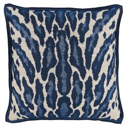 Vivy Global Regency Abstract Leopard Print Navy Pillow - 22x22 | Kathy Kuo Home