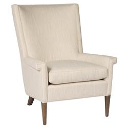 Wade Lodge Exposed Ash Beige Armchair | Kathy Kuo Home