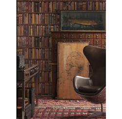 Wall Of Books Library Wallpaper - Multi - 2 Rolls | Kathy Kuo Home