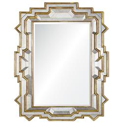Westport Hollywood Regency Gold Antiqued Frame Mirror | Kathy Kuo Home