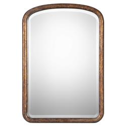 Wharton Antique Gold Leaf Rustic Pine Mirror | Kathy Kuo Home