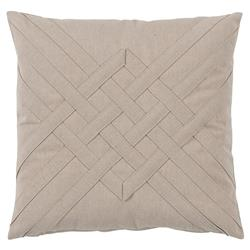 Will Modern Beige Lattice Weave Outdoor Pillow - 20x20 | Kathy Kuo Home