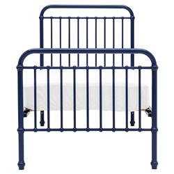 Willie Modern Navy Blue Metal Bed - Twin | Kathy Kuo Home