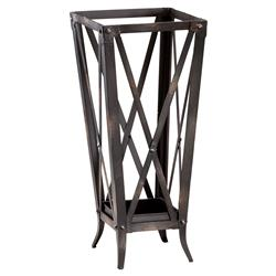 Willow Modern Classic Raw Steel Metal Umbrella Stand | Kathy Kuo Home