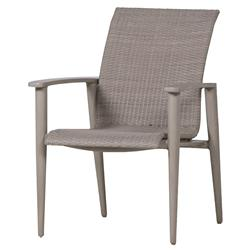 Wind Oyster Grey Wicker Outdoor Armchair | Kathy Kuo Home