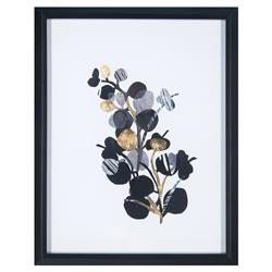 Yadira Paper Shadows Hollywood Regency Gold Foil Floral Print | Kathy Kuo Home