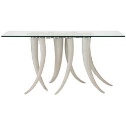 Zac Global Bazaar Cast Resin Tusk Stainless Steel Console Table | Kathy Kuo Home