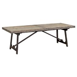 Zilla Rustic Industrial Drop Leaf Pine Dining Table | Kathy Kuo Home