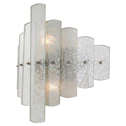 Zuma Hollywood Regency Silver Antique Mirror Wall Sconce | Kathy Kuo Home