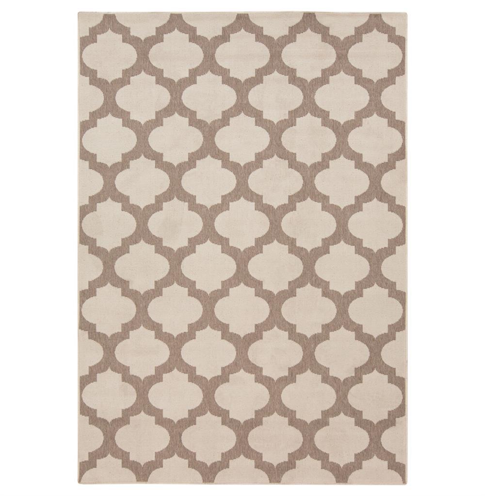 Regina Moorish Tile Outdoor Taupe Ivory Hollywood Regency