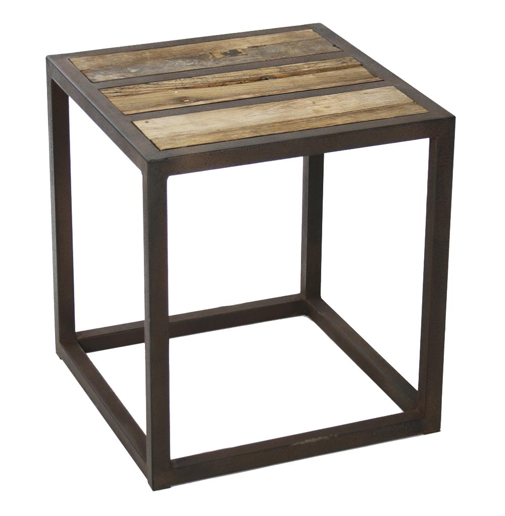 Lisbeth urban rustic reclaimed elm end table kathy kuo home for Rustic side table