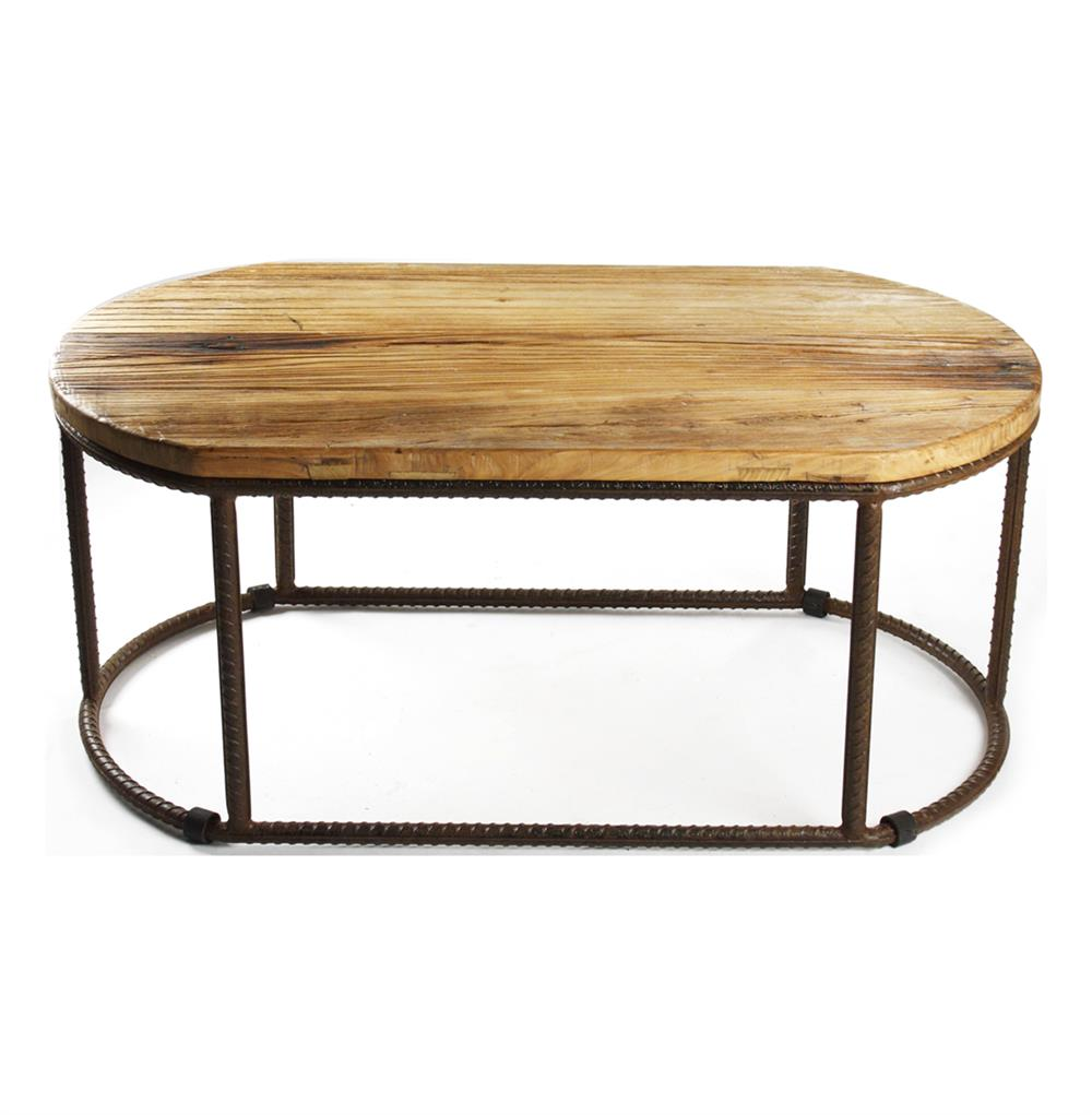 Urban rustic reclaimed wood coffee table kathy kuo home for Reclaimed coffee table