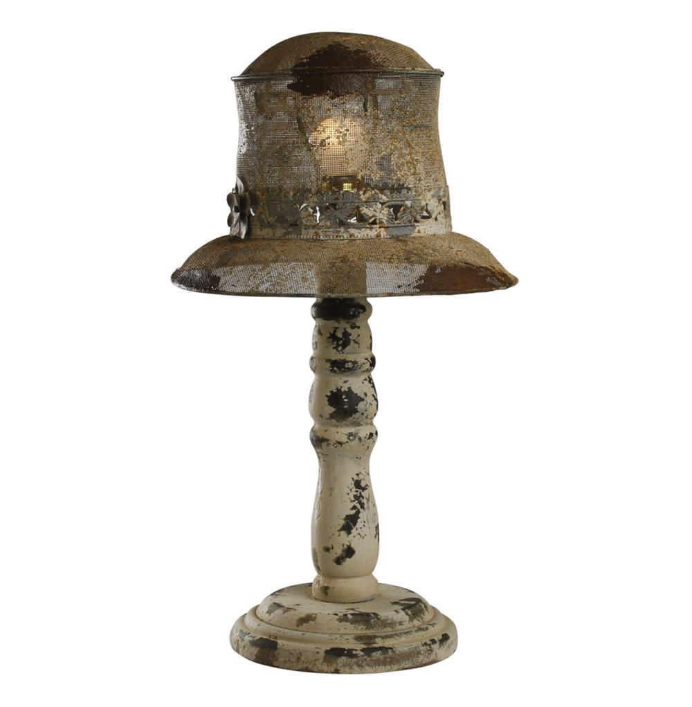 Hats Off French Country Rustic Table Lamp