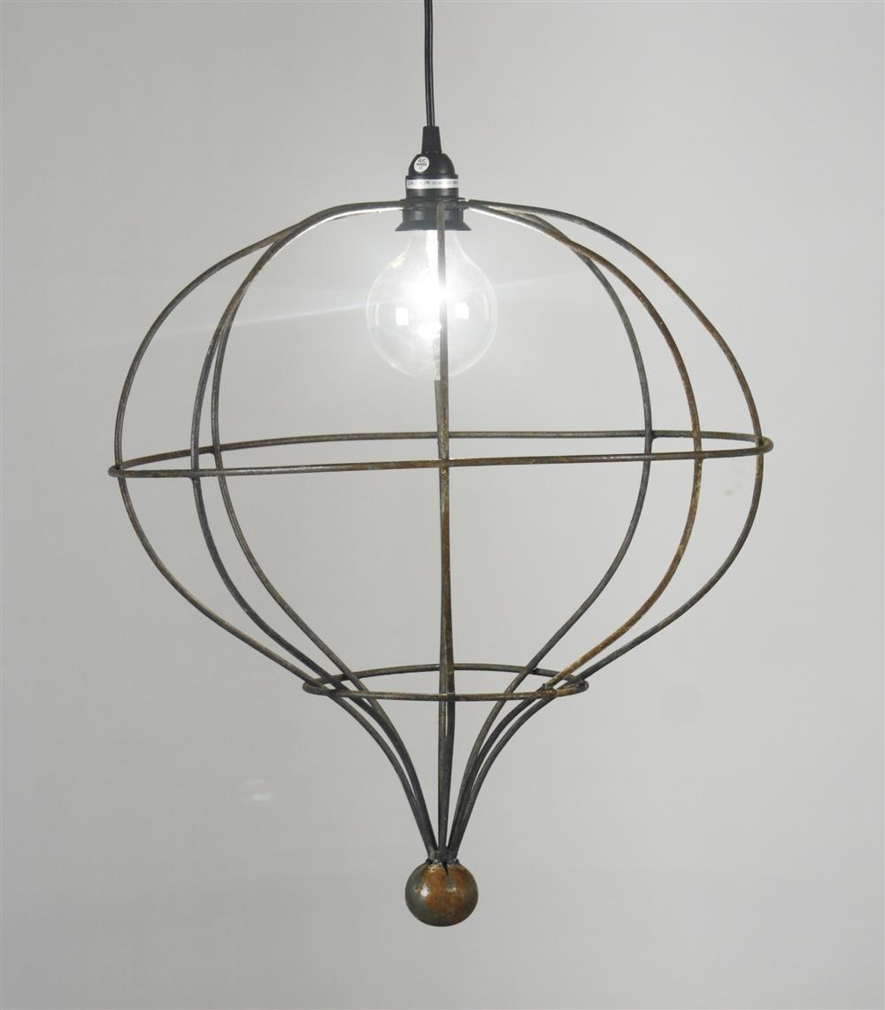 Orangerie Industrial Tear Drop Hanging Pendant Light