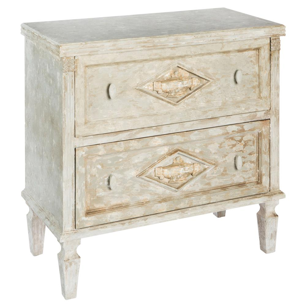 french distressed furniture. Gale French Country Heavy Distressed Weathered Wood Nightstand | Kathy Kuo Home Furniture