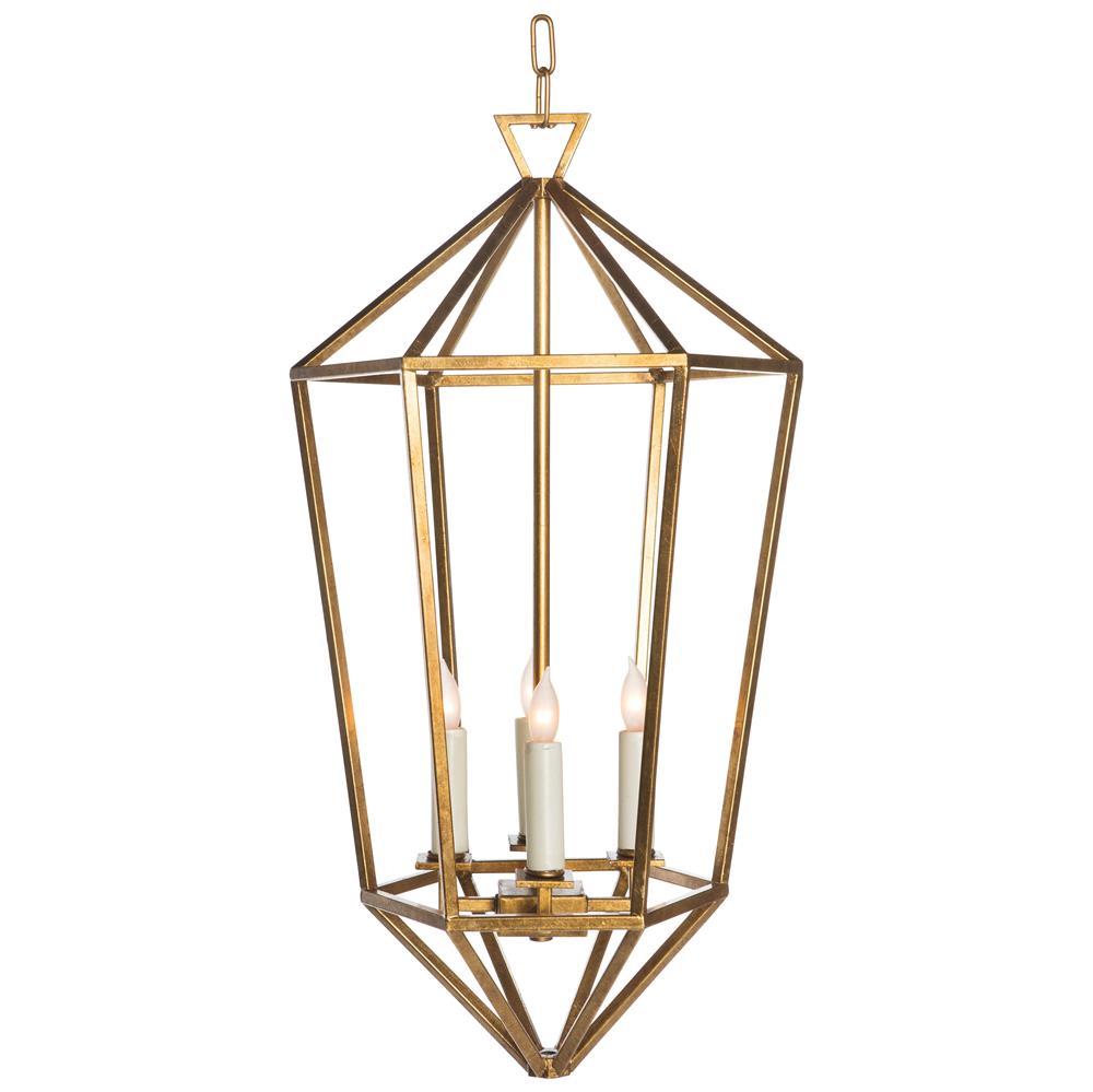 Foyer Caged Chandelier : Cascade gold hollywood regency diamond cage foyer pendant