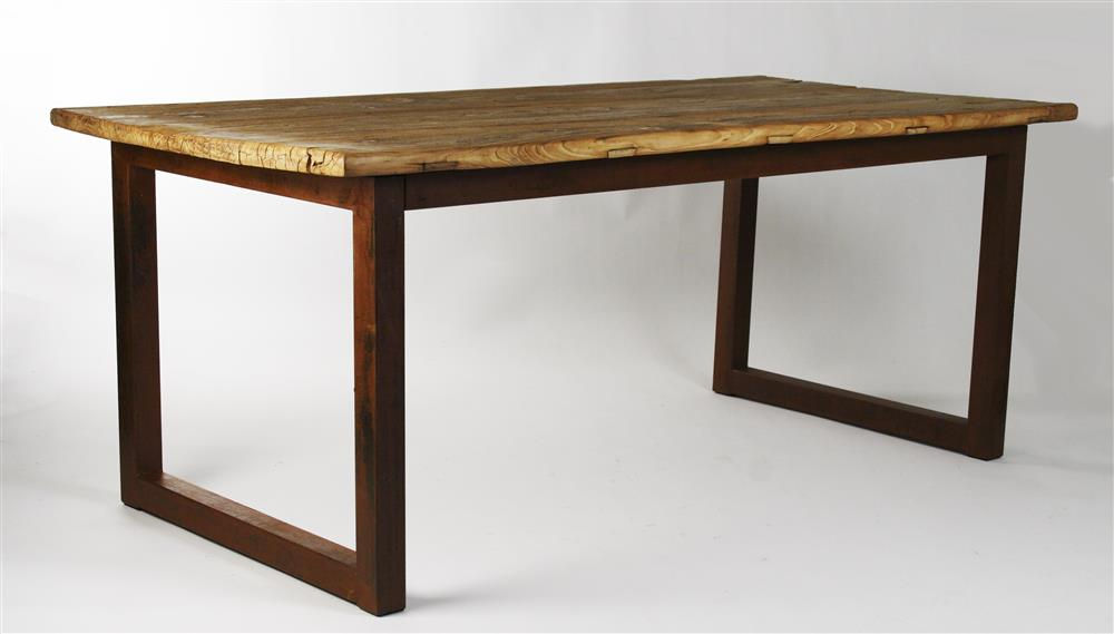 Home Furniture Tables Dining Tables Modern Reclaimed Elm Dining Table