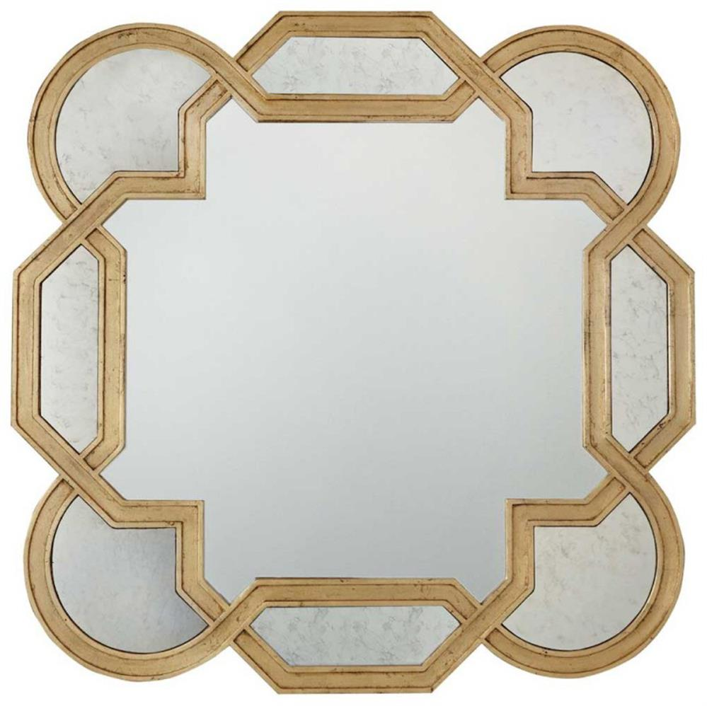 Oriana Modern Classic Decorative Antique Gold Leaf Mirror Kathy