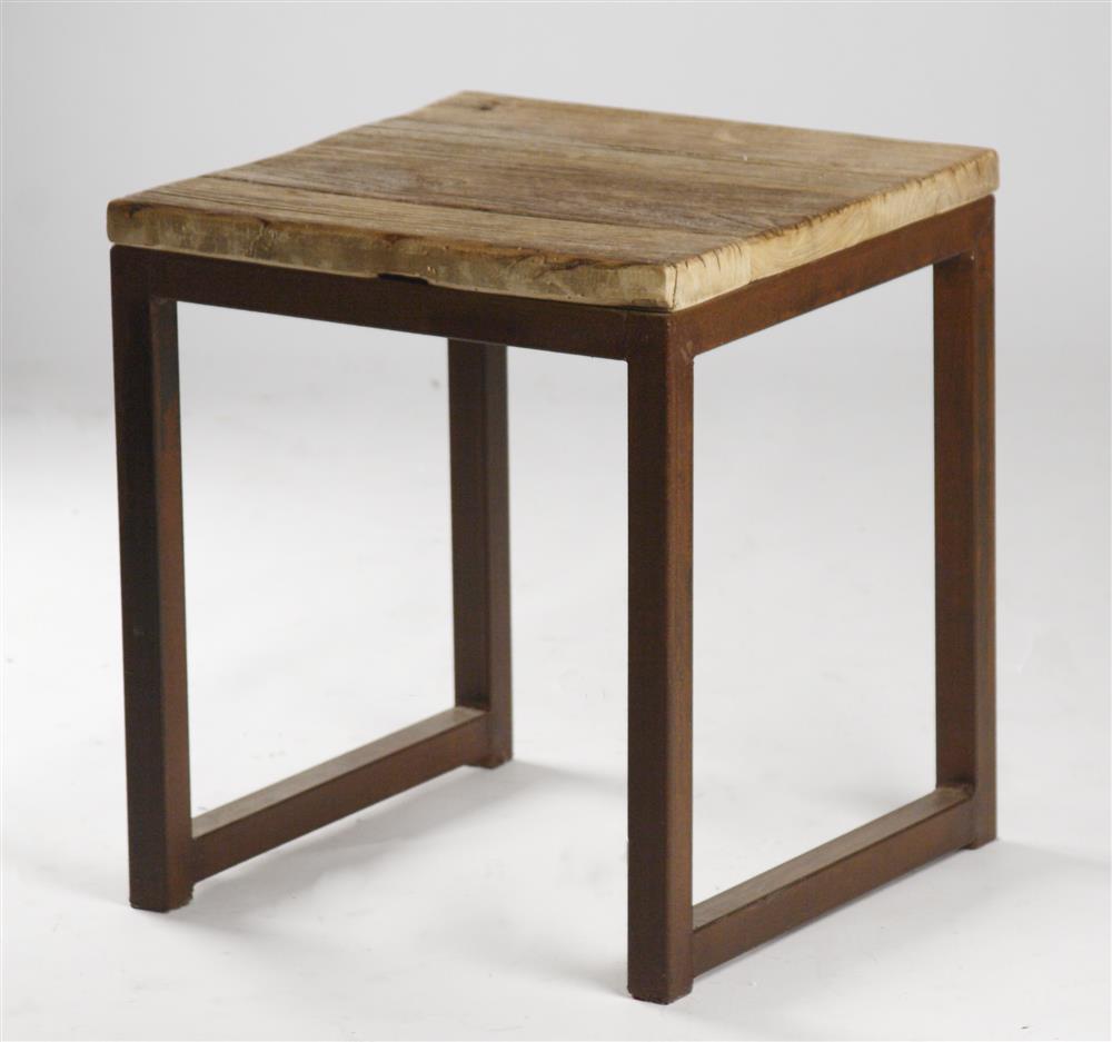 Modern rustic reclaimed wood side end table kathy kuo home for Reclaimed wood end table