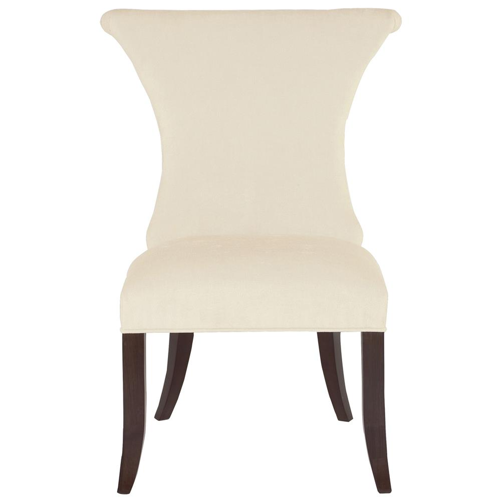 Crawford Modern Classic Ring Pull Ivory Side Chair Kathy