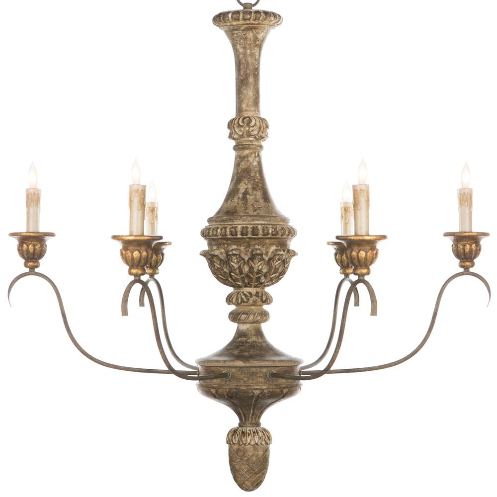 Remmy French Country Antique Gold Chandelier Kathy Kuo Home