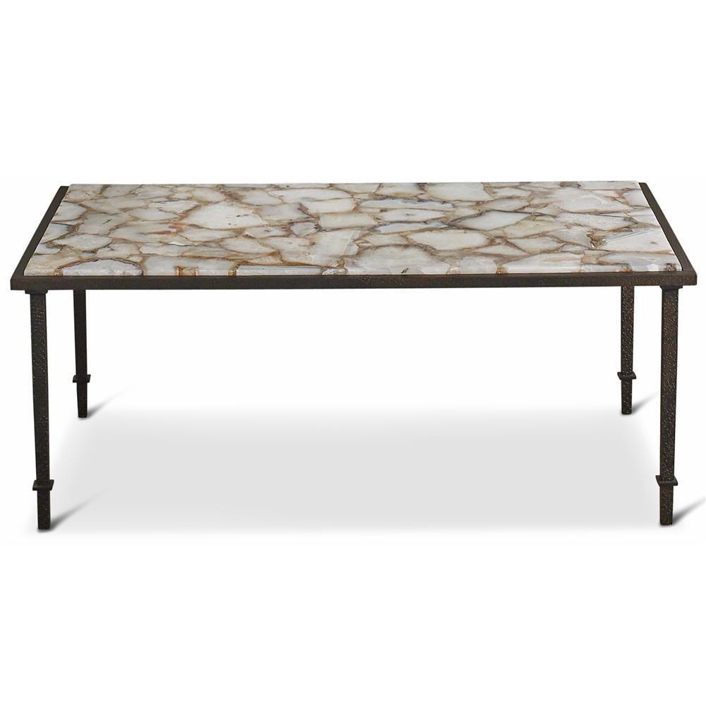 Stone And Iron Coffee Table Vesuvio Global Bazaar Agate Stone Iron Coffee Table