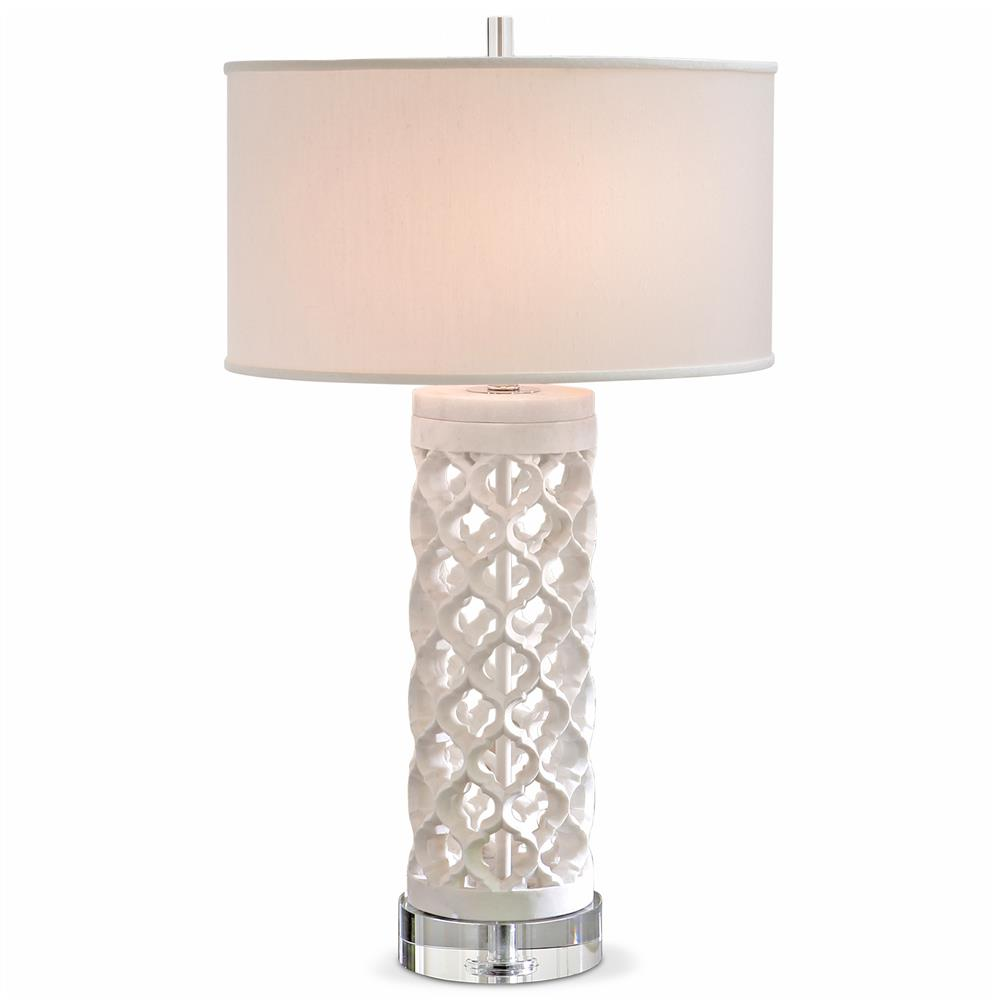 Mamounia global bazaar white marble crystal fretwork round table mamounia global bazaar white marble crystal fretwork round table lamp kathy kuo home geotapseo Images