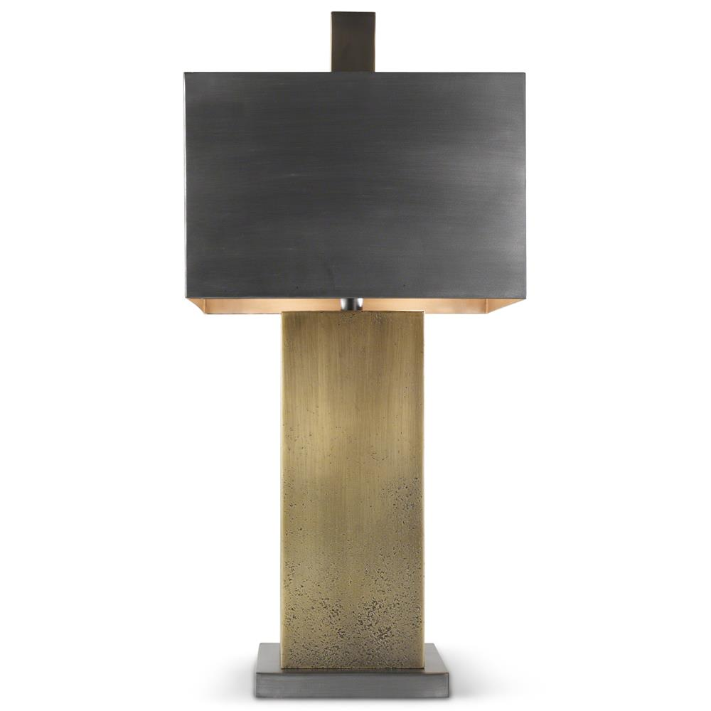 . farrell industrial loft brass bronze table lamp  kathy kuo home