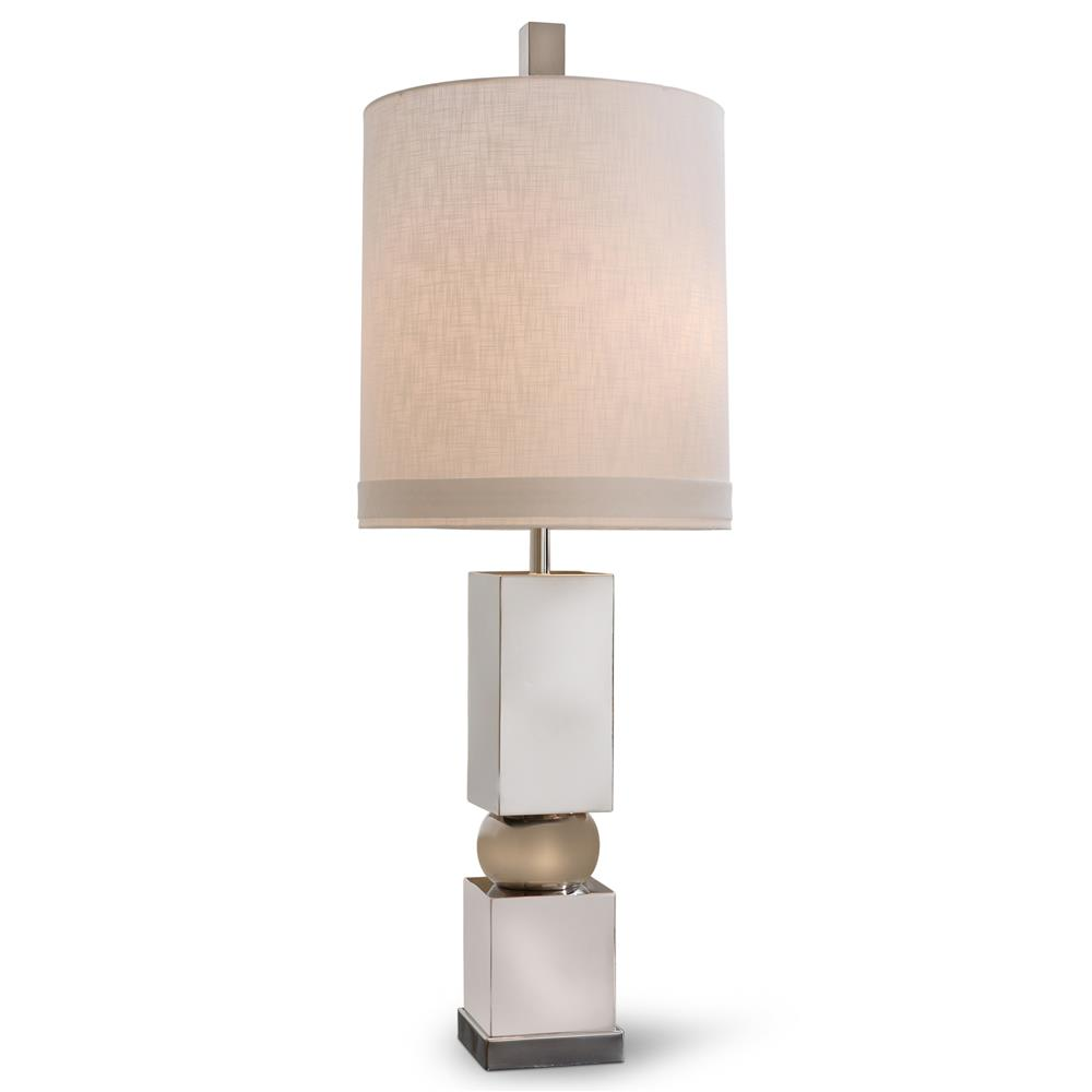 Bernadette modern classic polished nickel table lamp kathy kuo home aloadofball