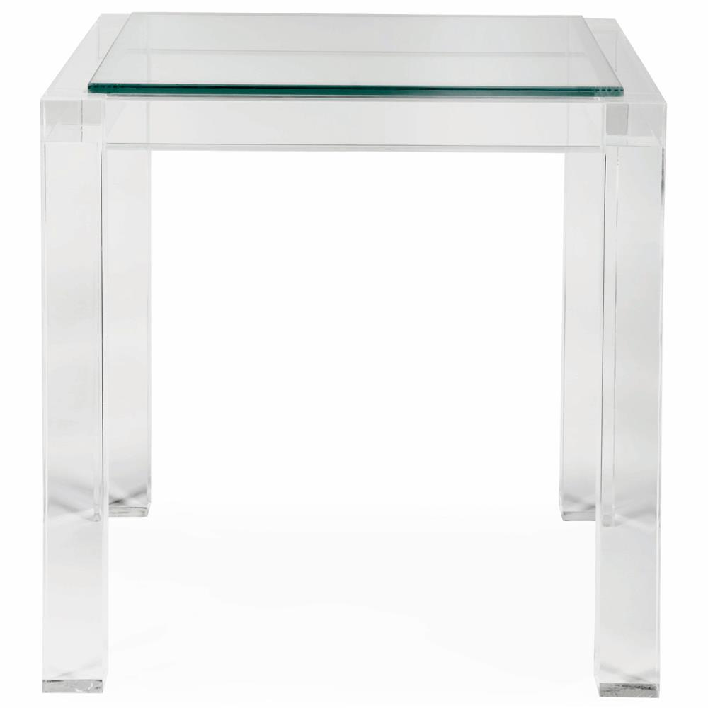 Francisco Hollywood Regency Acrylic Square Side End Table
