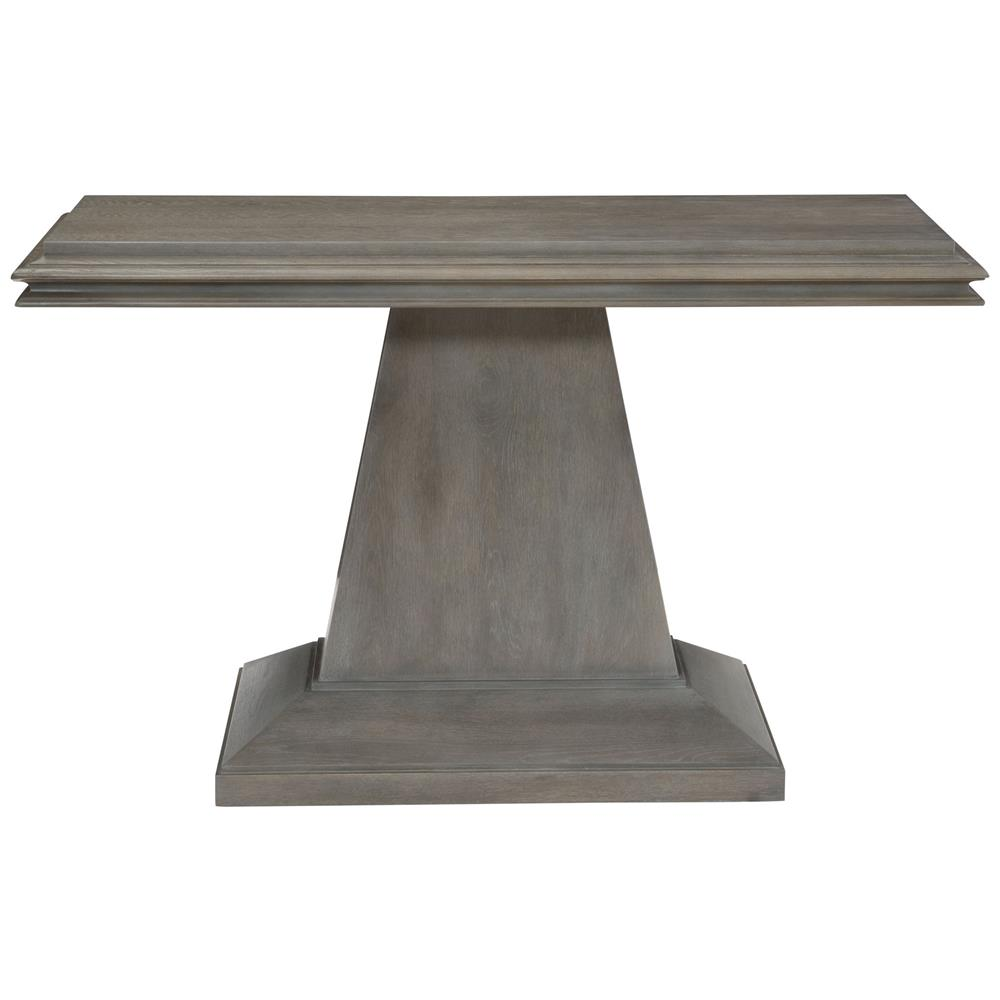 Rustic Solid Wood 11 Drawer Rectangular Pedestal Home: Toni Rustic Lodge Grey Oak Pedestal Console Table