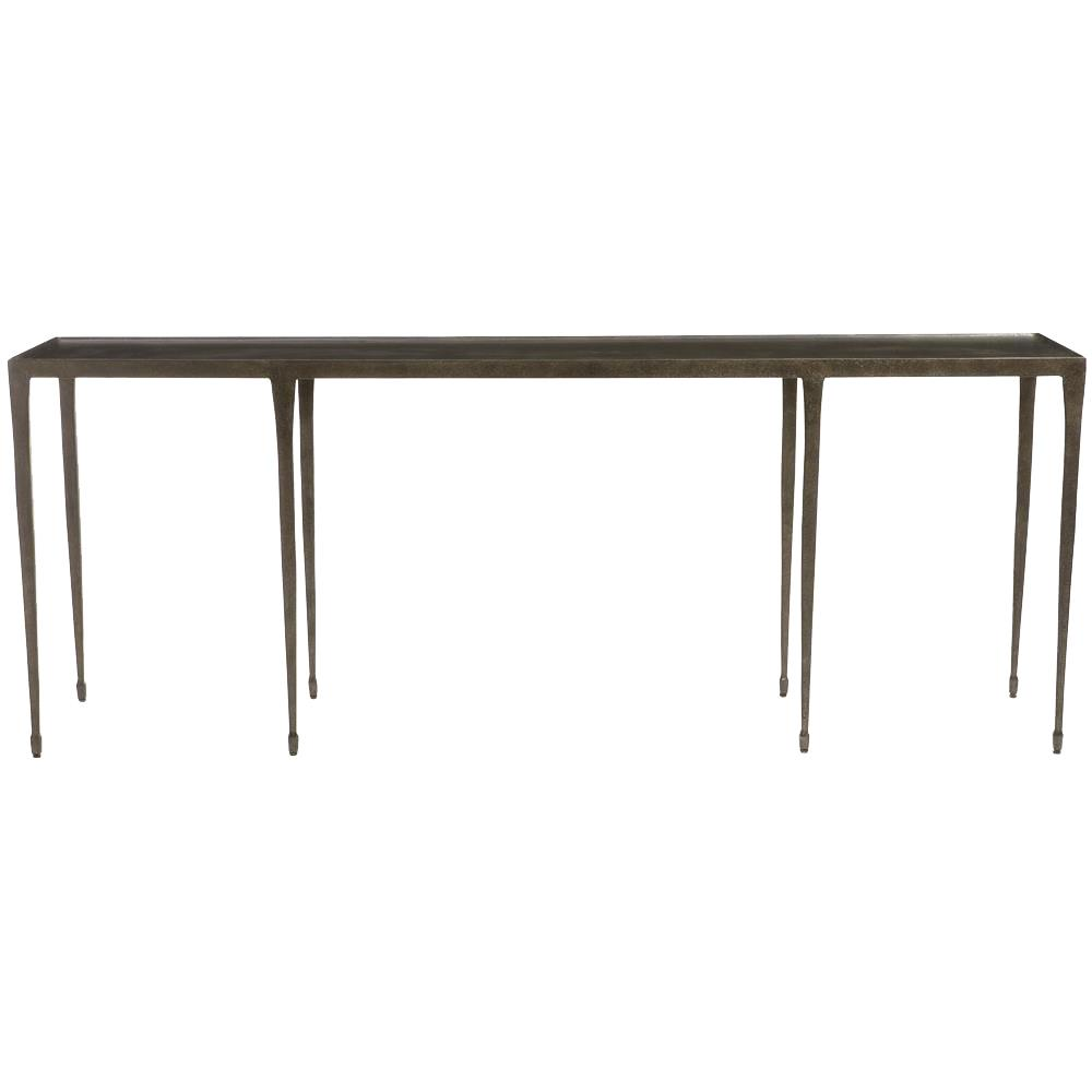 Charmant Wes Industrial Loft Blackened Hammered Cast Iron Console Table | Kathy Kuo  Home ...