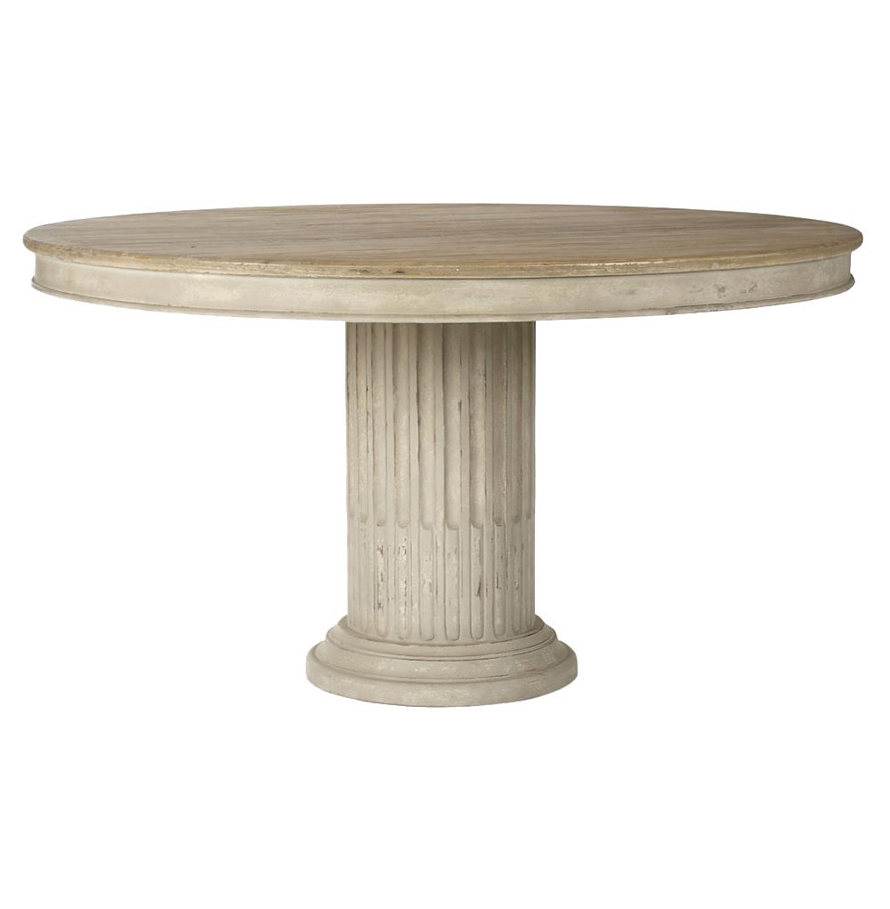 Montpellier doric french country pedestal dining table for Pedestal dining table