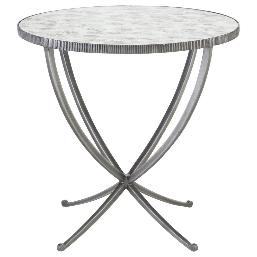 justine hollywood regency antique mirror round side end table. Black Bedroom Furniture Sets. Home Design Ideas