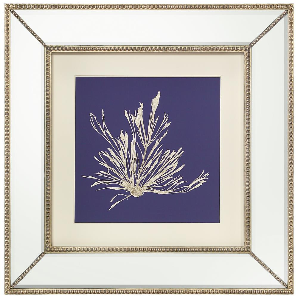 John-Richard Seaweed Stem Coastal Beach Ivory Navy Blue Silhouette ...