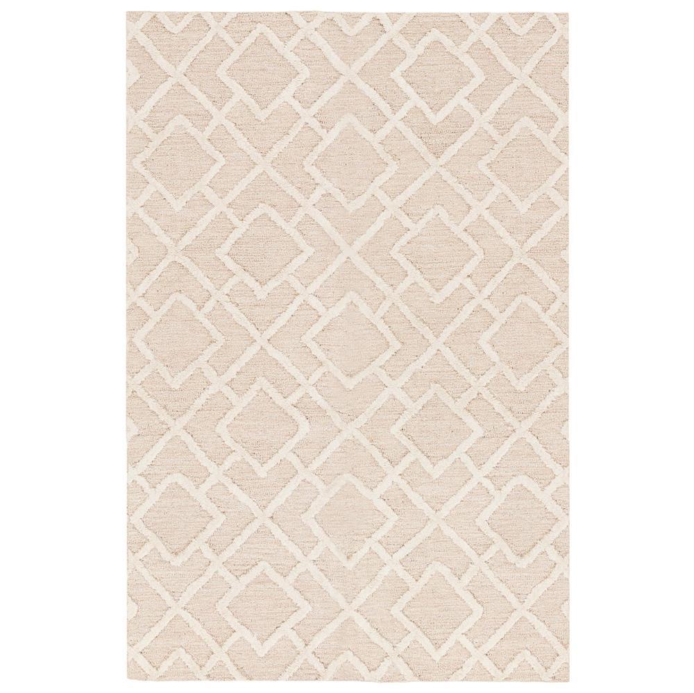 delia modern classic ivory beige diamond trellis rug 2x3 kathy kuo home