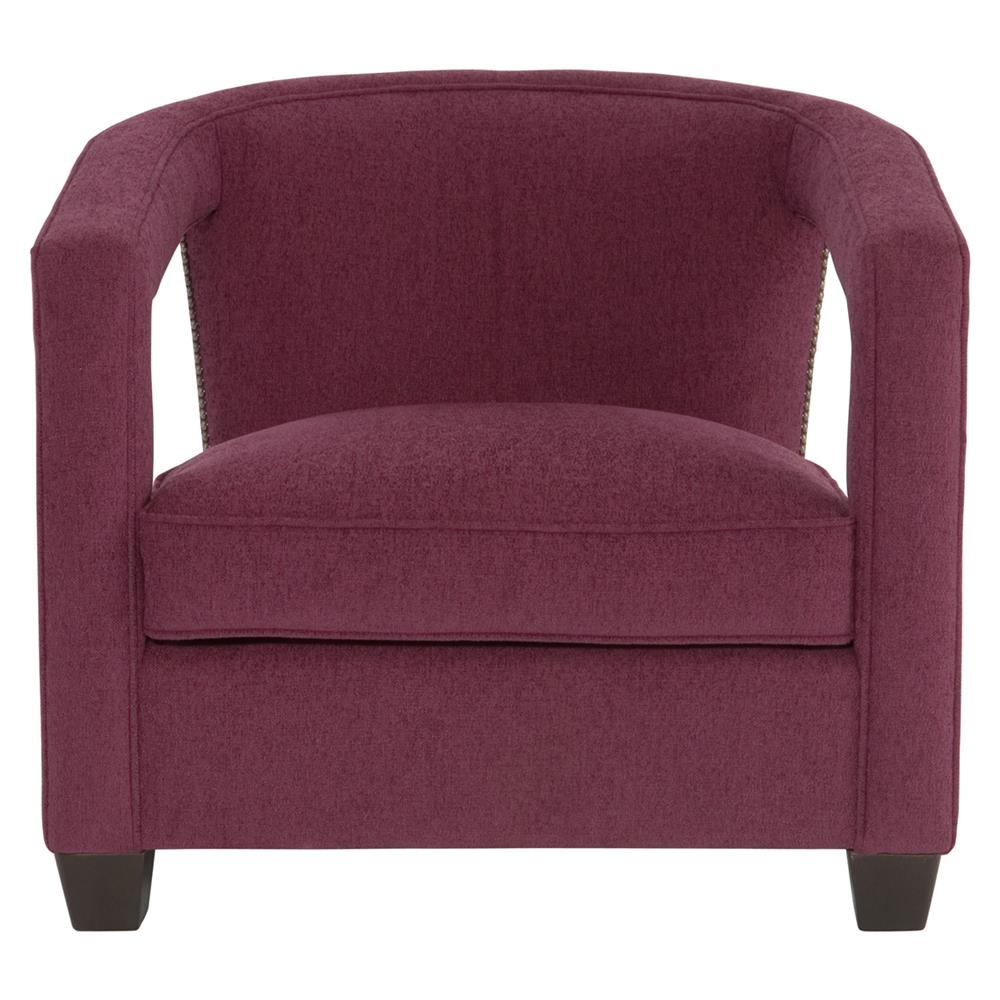 Superbe Rhea Hollywood Regency Bright Nickel Nailhead Purple Armchair | Kathy Kuo  Home ...