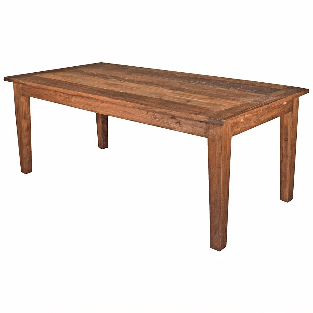 Brill rustic lodge reclaimed elm wood extendable dining table for Rustic dining table