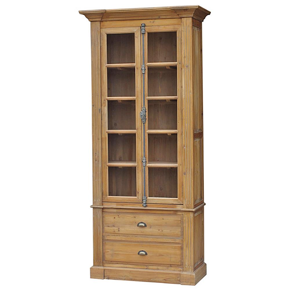 Marcus French Country Reclaimed Wood Single Bookcase