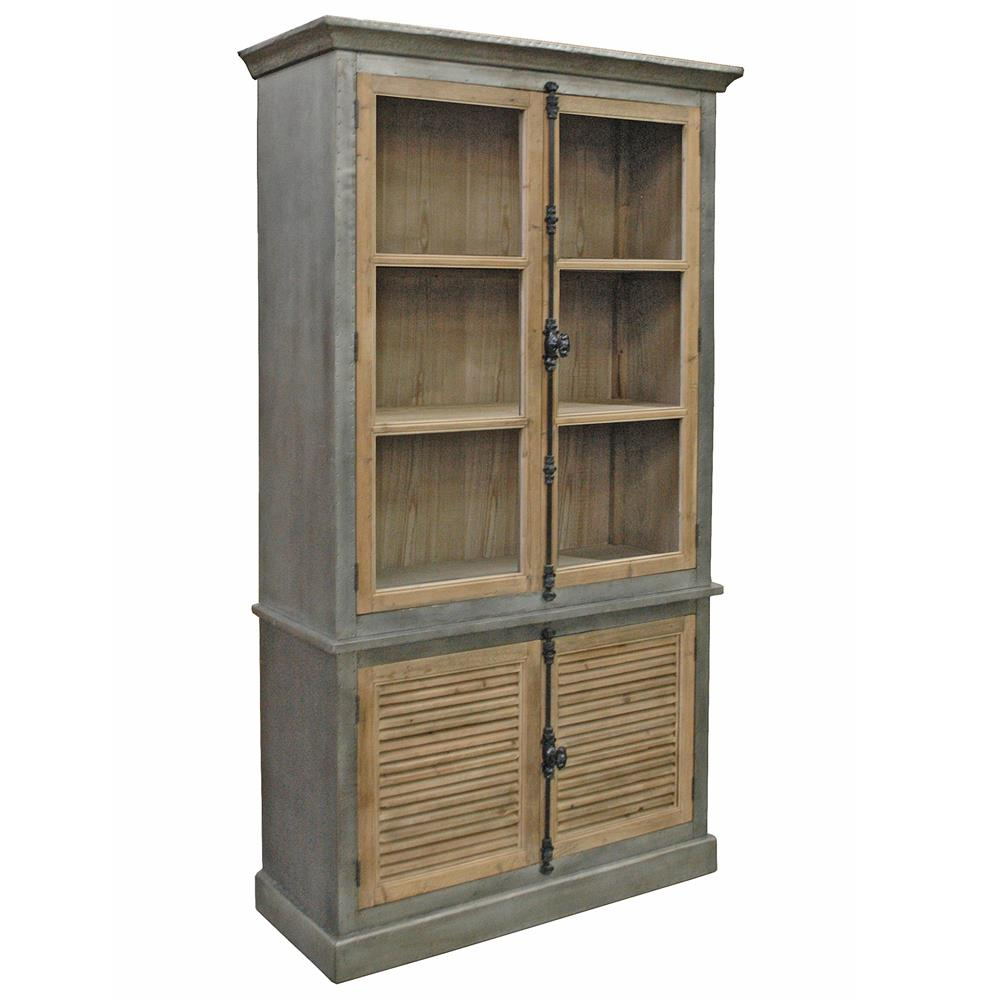 Klein Industrial Loft Natural Pine Zinc Wrapped Closed ...