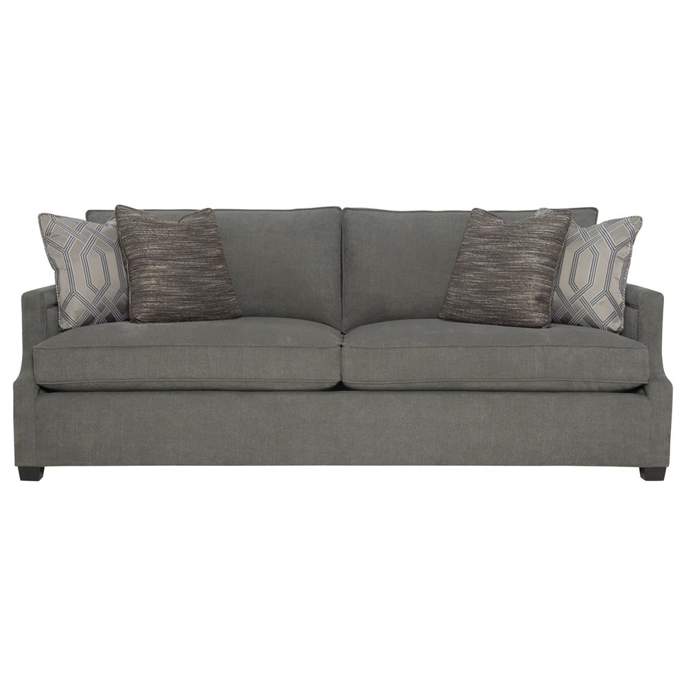 Etonnant Eden Hollywood Regency Mocha Wood Antique Nickel Grey Sofa | Kathy Kuo Home